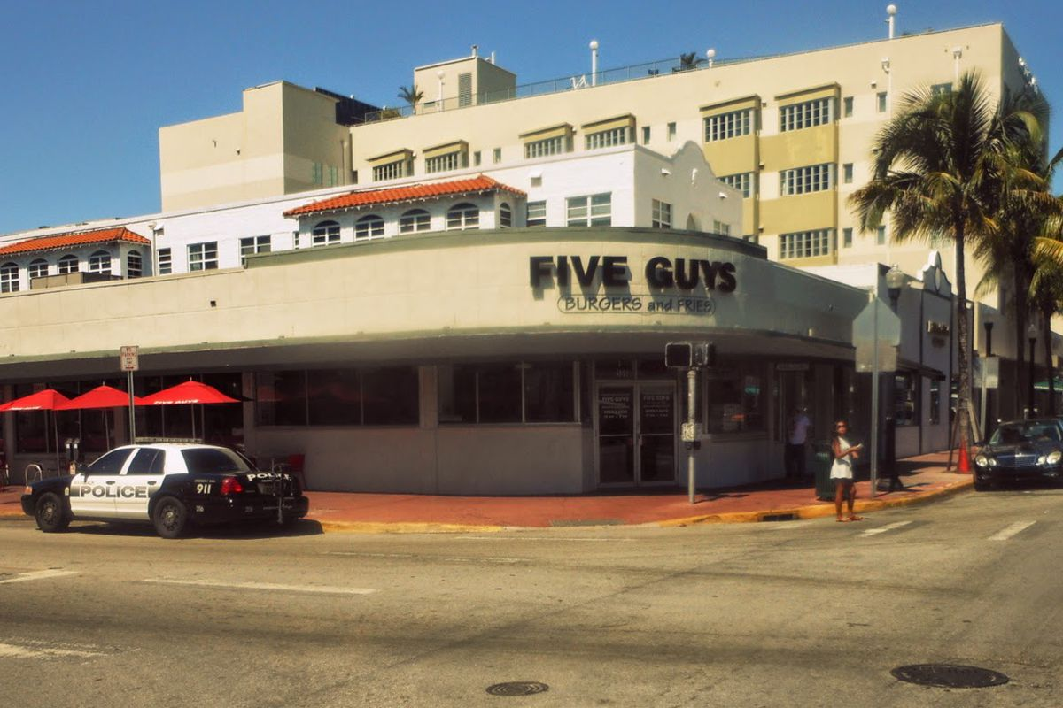 Miami Beach Five Guys Location