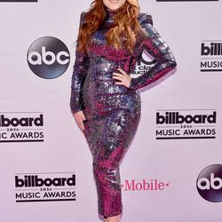 Meghan Trainor in Michael Costello and Le Vian jewelry