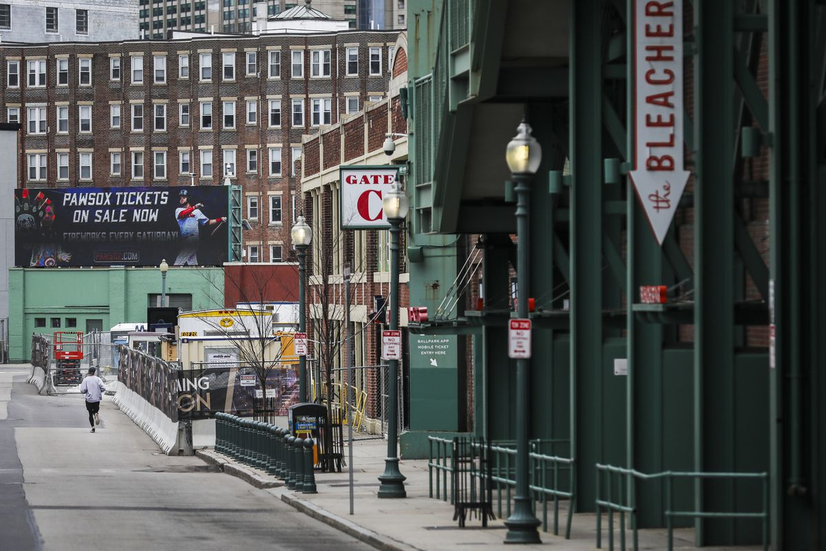 Streets Around Fenway Park Empty Before Typical Opening Day