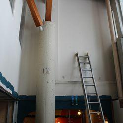 Where the faux balcony will go.