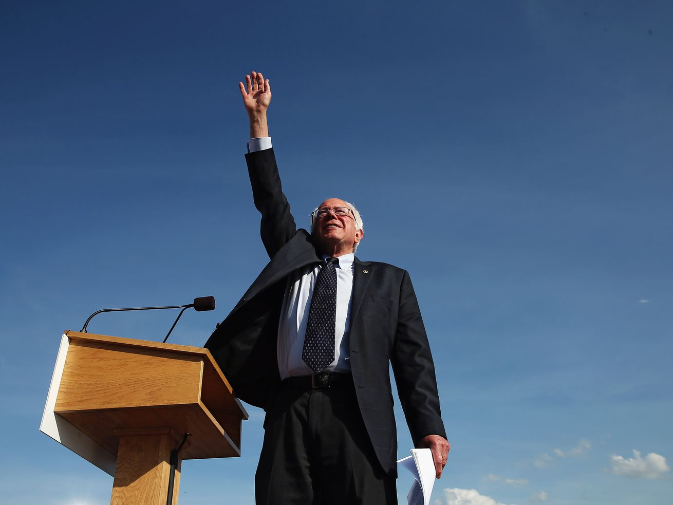 Bernie Sanders launches his first presidential bid in 2015.