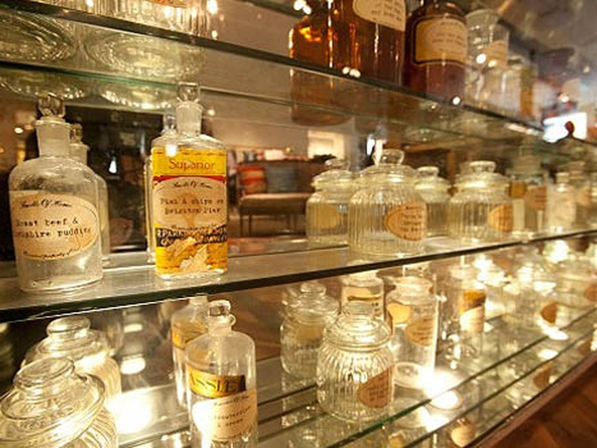 """The apothecary at the <a href=""""http://ny.racked.com/archives/2010/11/29/ted_baker_upping_mepas_dandy_quotient_since_tuesday.php#now-open-ted-baker-4"""">new Ted Baker store</a> in MePa. Image via by Matthew Peyton courtesy of Ted Baker London/LaForce +"""