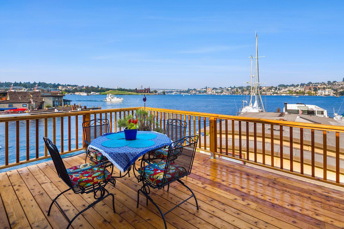 Wood Shingled Floating Home Is A Fairy Tale On Lake Union