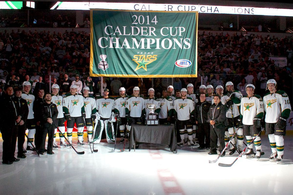 The Texas Stars raised four banners to the rafters to celebrate their championship season.