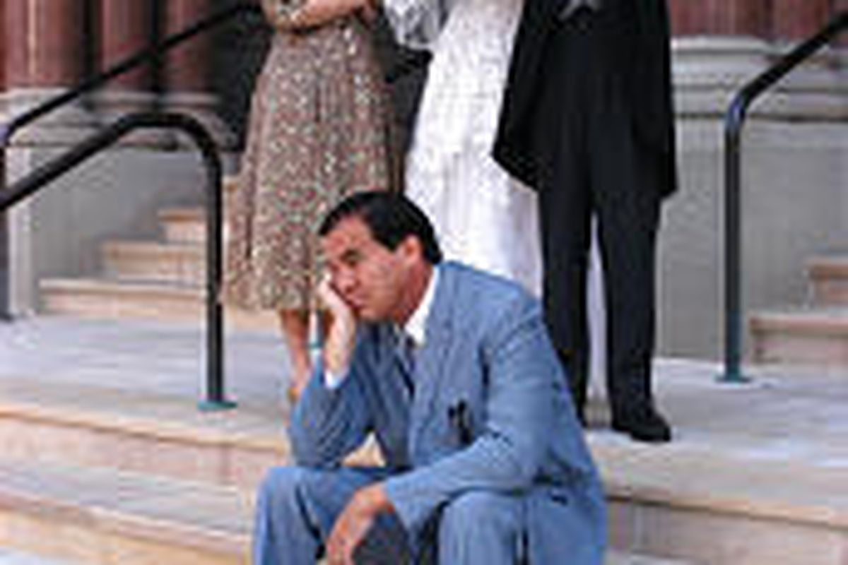 """Vicki Pugmire, Ashlee LaPine, Brian Bahr and Bruce Craven, clockwise from top, star in """"Father of the Bride."""""""