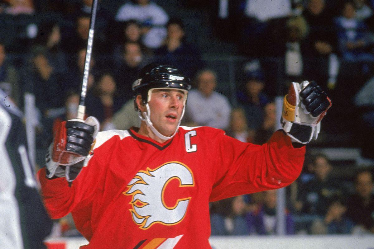 Flames' Joe Nieuwendyk Scores On Dallas