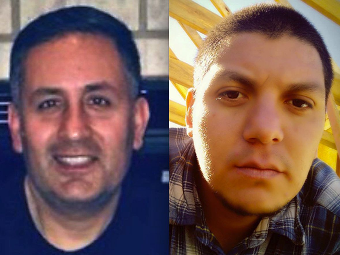 Chicago Fire Department diver Juan Bucio (left) died Monday while searching in the Chicago River for Alberto Lopez (right), whose body was recovered days later. | Bucio photo provided by Chicago Fire Department; Lopez photo from Facebook