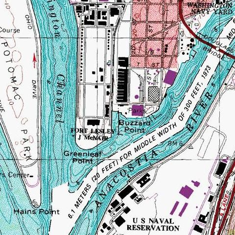 Oldish Map of Buzzard Point