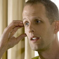 """Pete Docter, director of the animated """"Up,"""" talks about his film during an interview last month in Salt Lake City."""