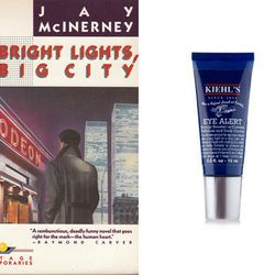 """For the unnamed protagonist of <i>Bright Lights Big City</i>: <a href=""""http://www.birchbox.com/men/kiehl-s-eye-alert"""">Kiehl's Eye Alert</a>, to help him hide the damage from all those hard-partying late nights"""