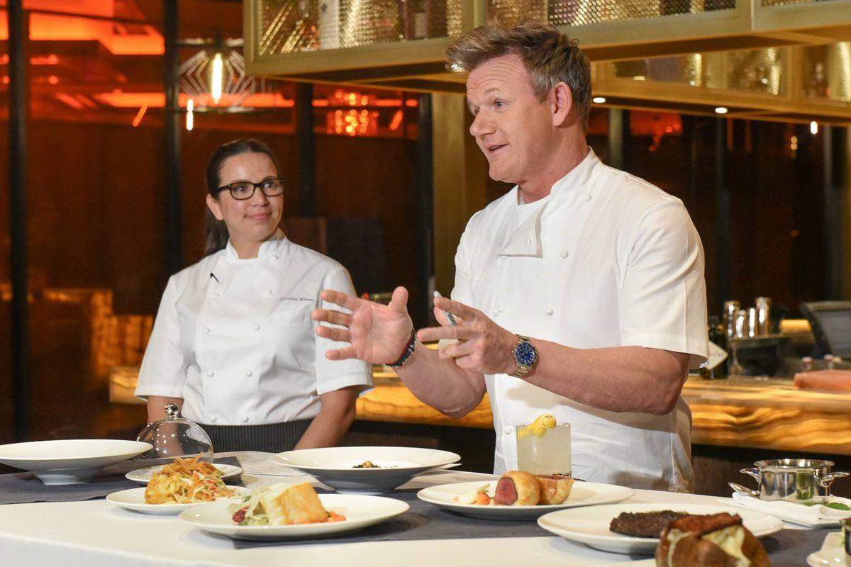 Gordon Ramsay At His New Baltimore Restaurant Photo Steak
