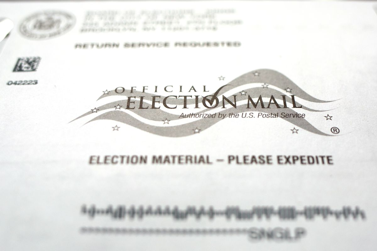 An absentee ballot sent to a Brooklyn voter ahead of the 2020 presidential election.