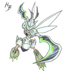 We're digging Scyther, one of the coolest Pokémon, as Genji, one of the coolest Overwatch heroes.
