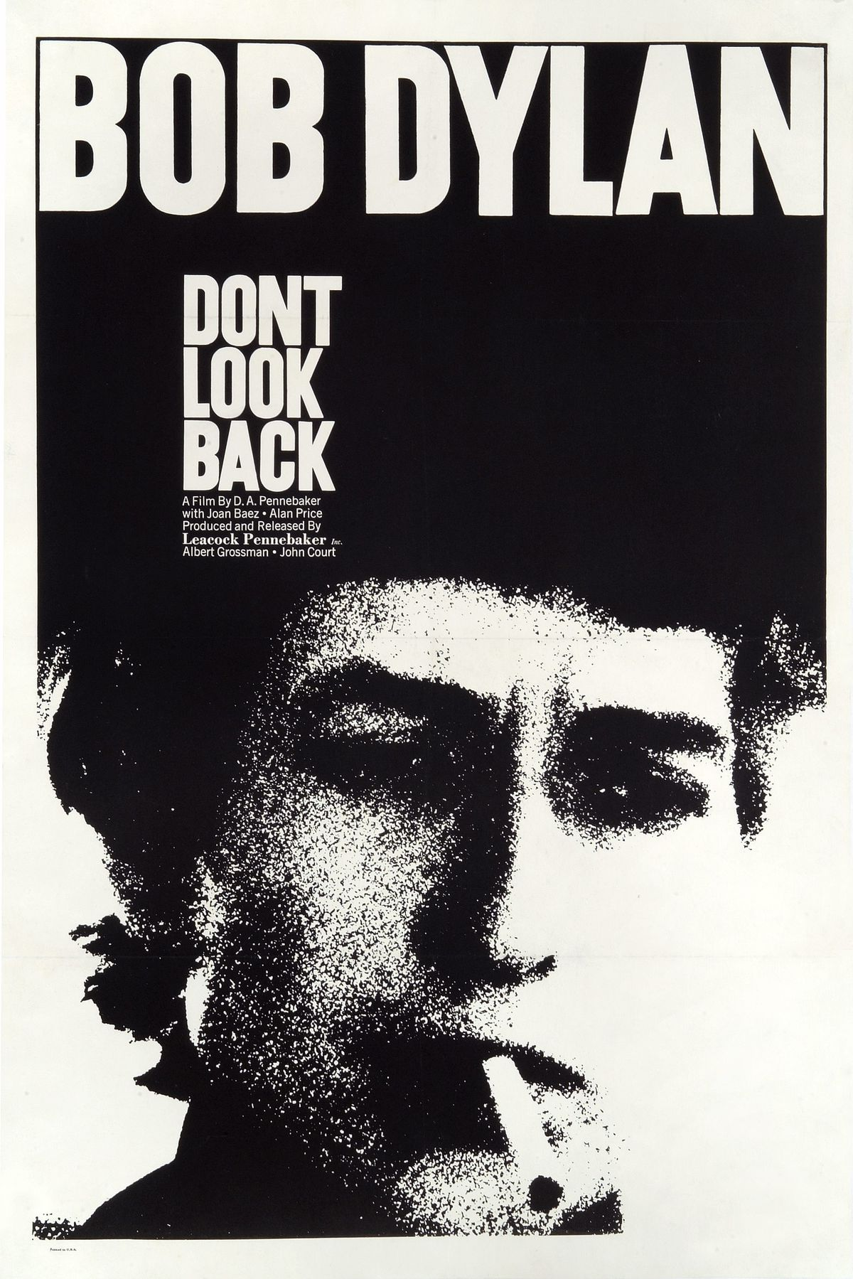 A poster for the 1967 music documentary Don't Look Back