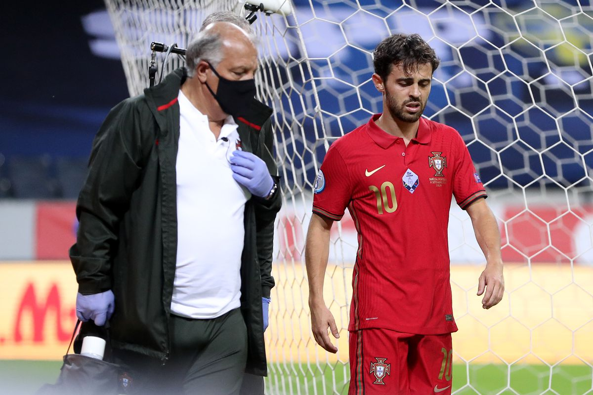 Bernardo Silva Injured On International Duty With Portugal Bitter And Blue