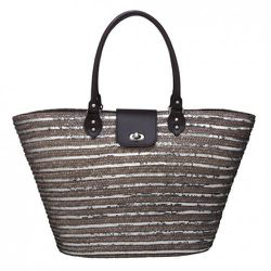 Sequin and Straw Tote $24.99