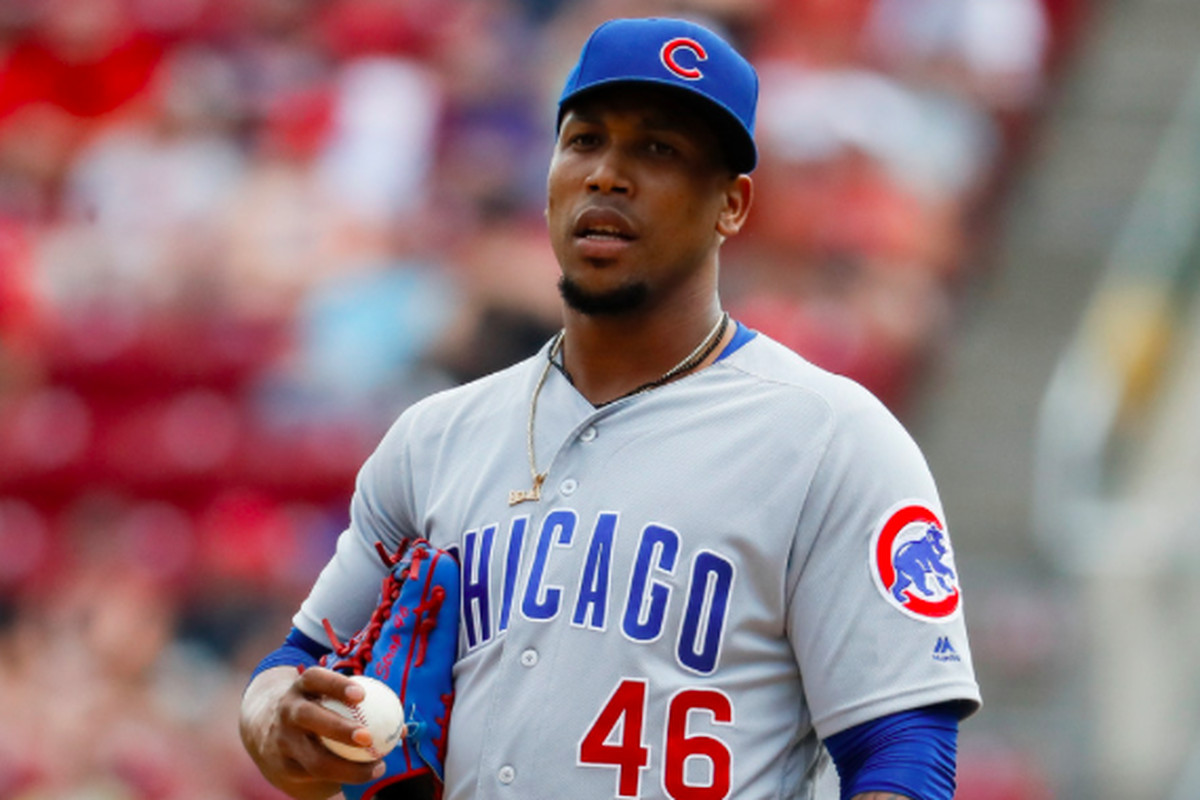 buy popular 4c3ce 911d2 Pedro Strop sidelined with hamstring injury; status for Cubs ...