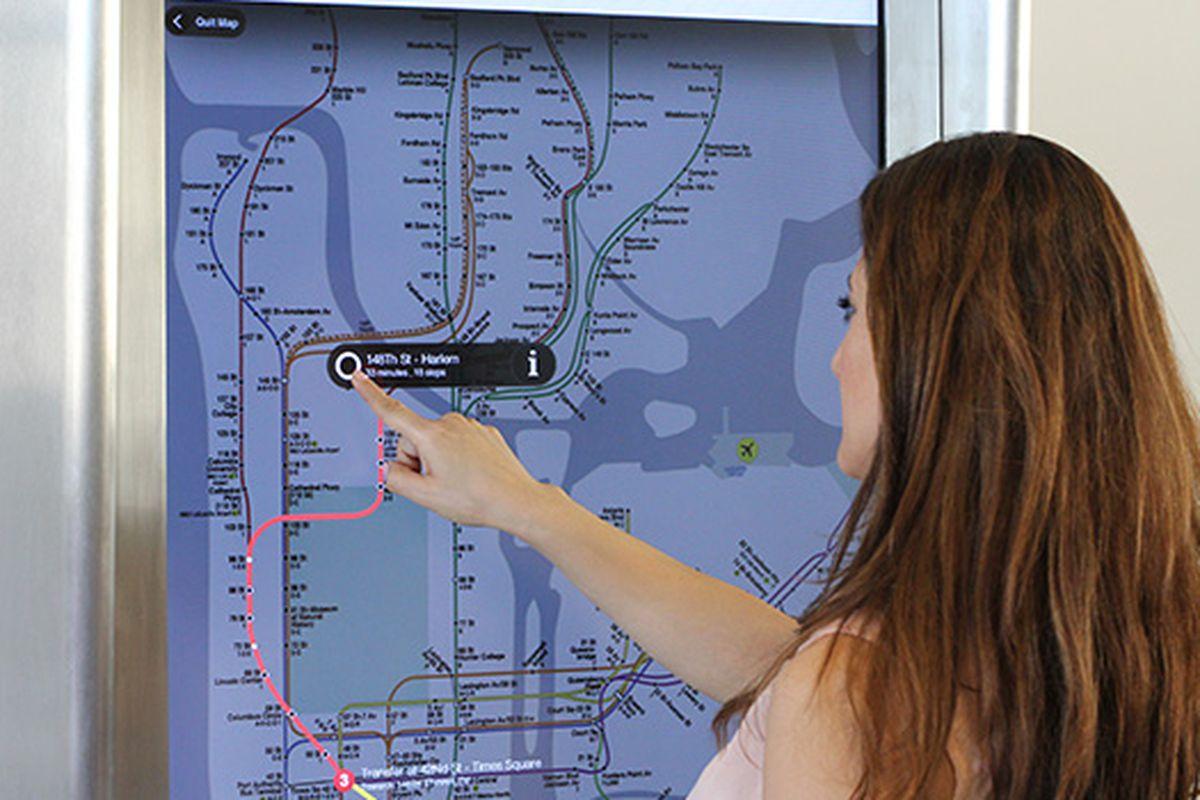 Subway map kiosk