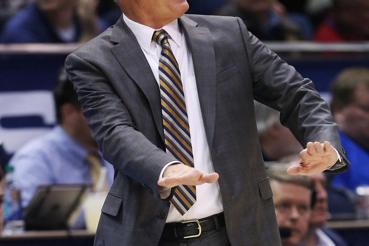 Brigham Young Cougars head coach Dave Rose calls a play in Provo on Saturday, Dec. 16, 2017. BYU won 77-65.