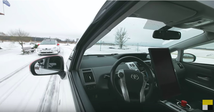 Watch this self-driving car navigate the snowy streets of