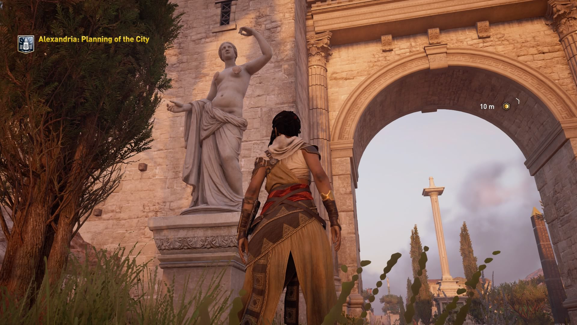 Assassins Creed Origins guided tour mode covers up nude