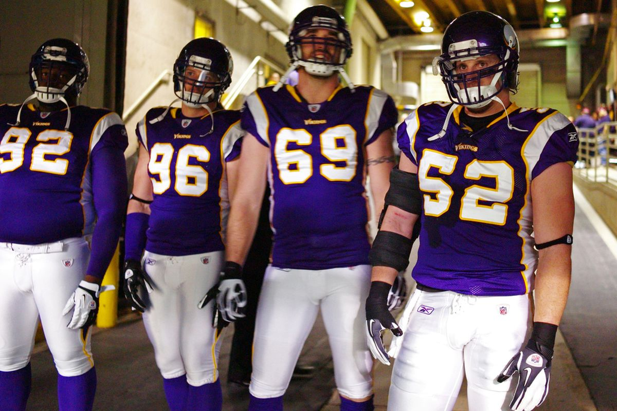 All three of these gentlemen will be at the Vikings' mini-camp this week, according to reports.  (Photo by Adam Bettcher /Getty Images)