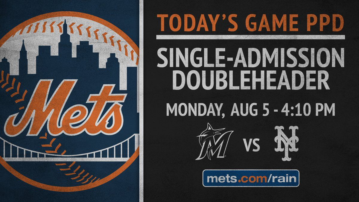 Mets/Marlins 5/12/19 Postponed