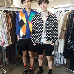 Adorable couple Brandon and Collin of Brooklyn's James Veloria know how to play with patterns.