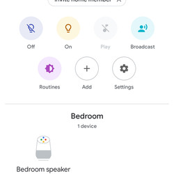 The Google Home app start screen with Hue lights already set.
