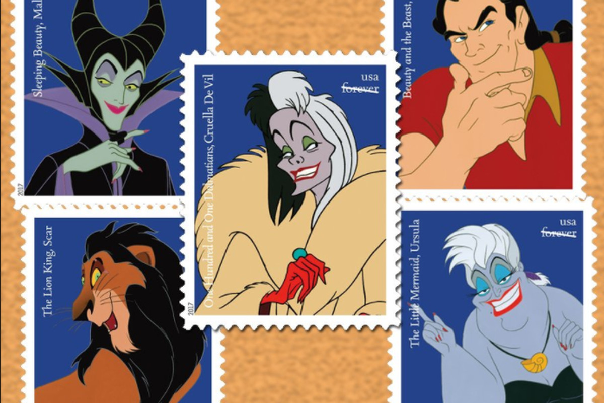 New Postage Stamps Celebrate Disney Villains The Verge