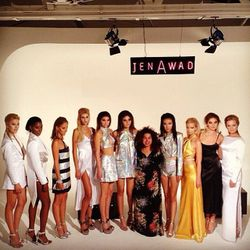 """<span class=""""credit"""">Jen Awad with her designs. [Photo <a href=""""http://instagram.com/p/fbGvkWqTRY/"""">via</a>]</span>"""