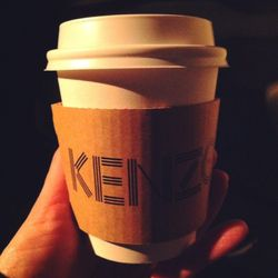<b>Kenzo</b> starts at10 a.m.and have just enough time to shower and get there, but no caffeine, to which I am an addict. Kenzo to the rescue—ladies dressed up in cute little cigarette girl outfits are walking around and passing out coffee and caramel p