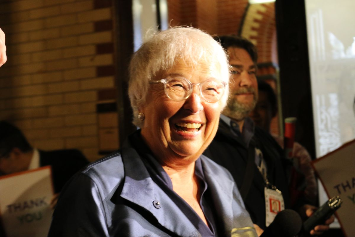 City staffers sent off Carmen Fariña at the education department headquarters after four years as chancellor, and more than 50 in the New York City school system.