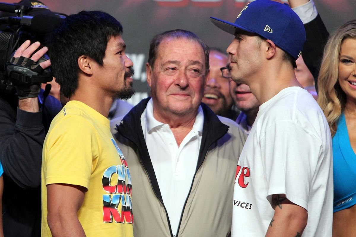 Manny Pacquiao will try to avoid his third straight loss against Brandon Rios on Saturday night.
