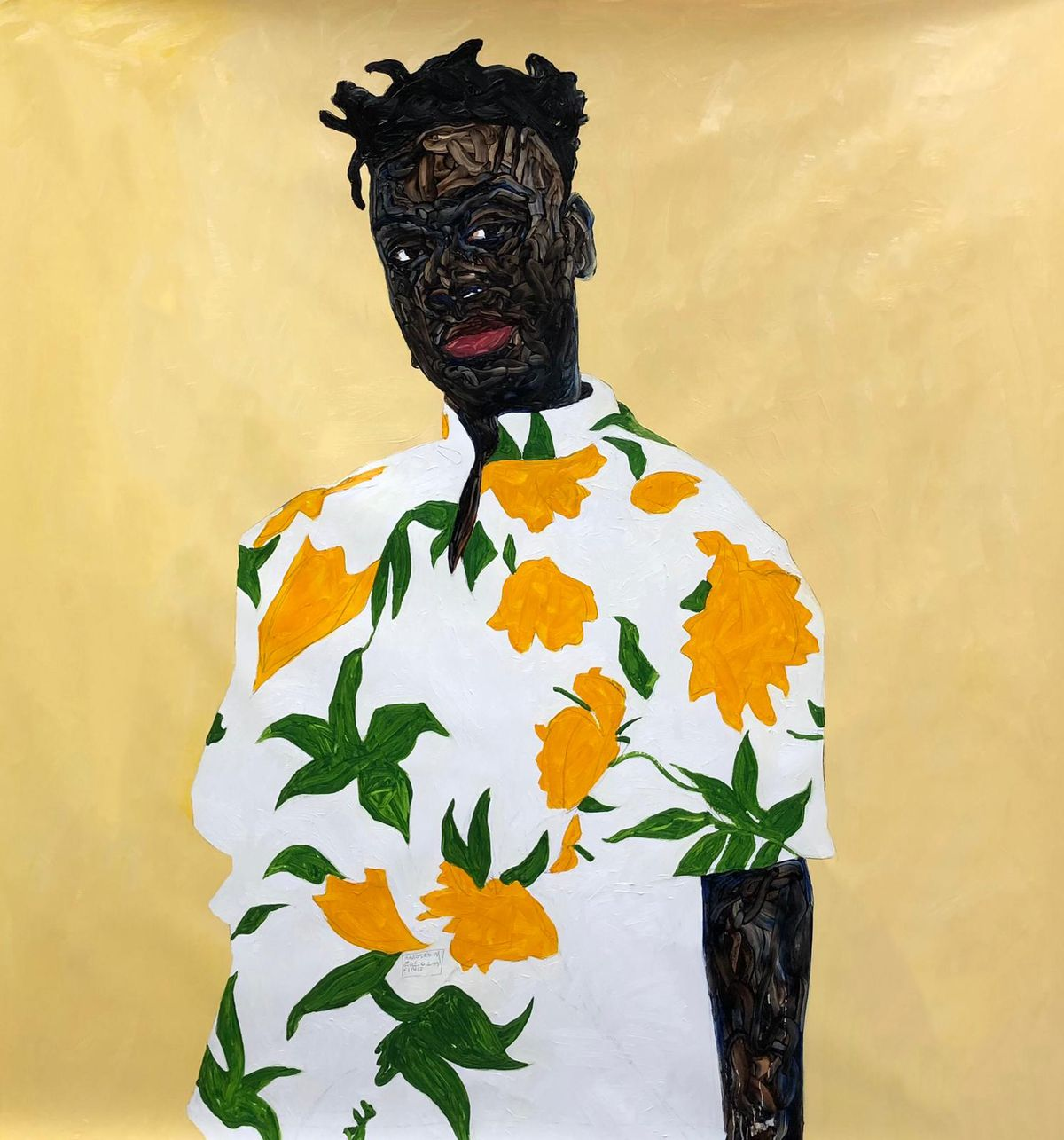 """Amoako Boafo's """"Sunflower Shirt"""" is among the art you will find at this weekend's Expo Chicago."""