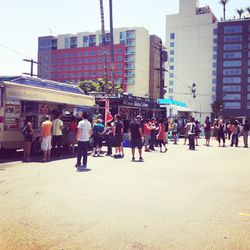Tons of food trucks were in the house, including Mandoline Grill, Cool Haus and the day's crowd-pleaser, Cousins Maine Lobster (lobster rolls, anyone?)