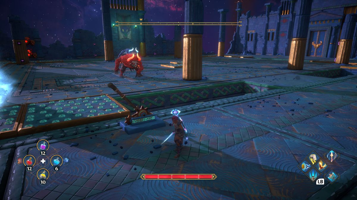 Two minotaur in Immortals Fenyx Rising