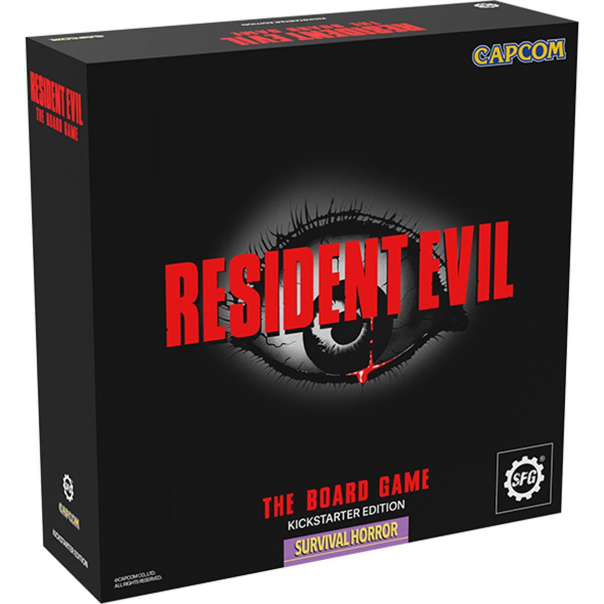 Sample art for Resident Evil: The Board Game's Kickstarter Edition box.
