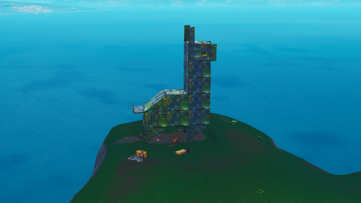 fortnite metal llama location - fortnite visit a wooden rabbit stone pig