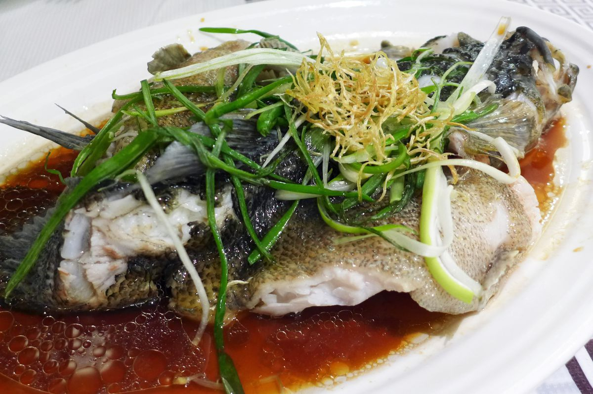 The same fish after steaming