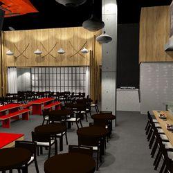 Sake Rok  private dining rendering Ray Designing Environments