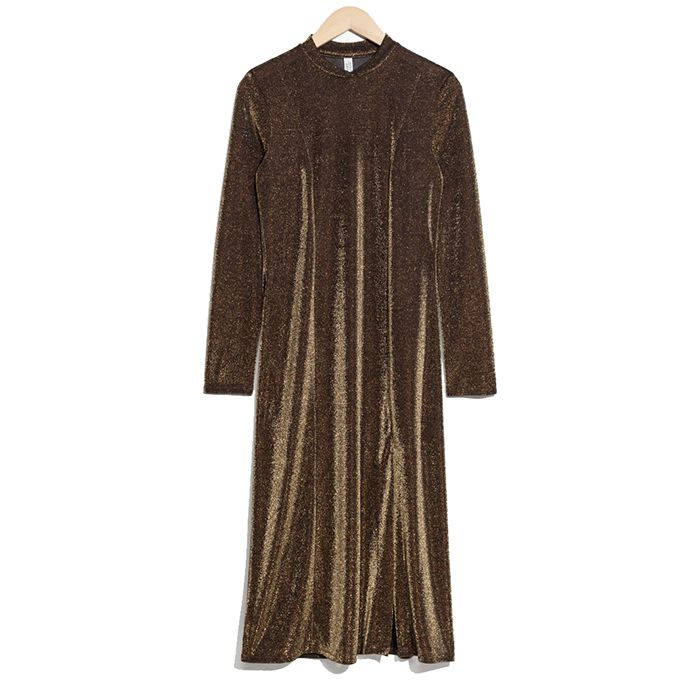 & Other Stories Shimmery Midi Dress