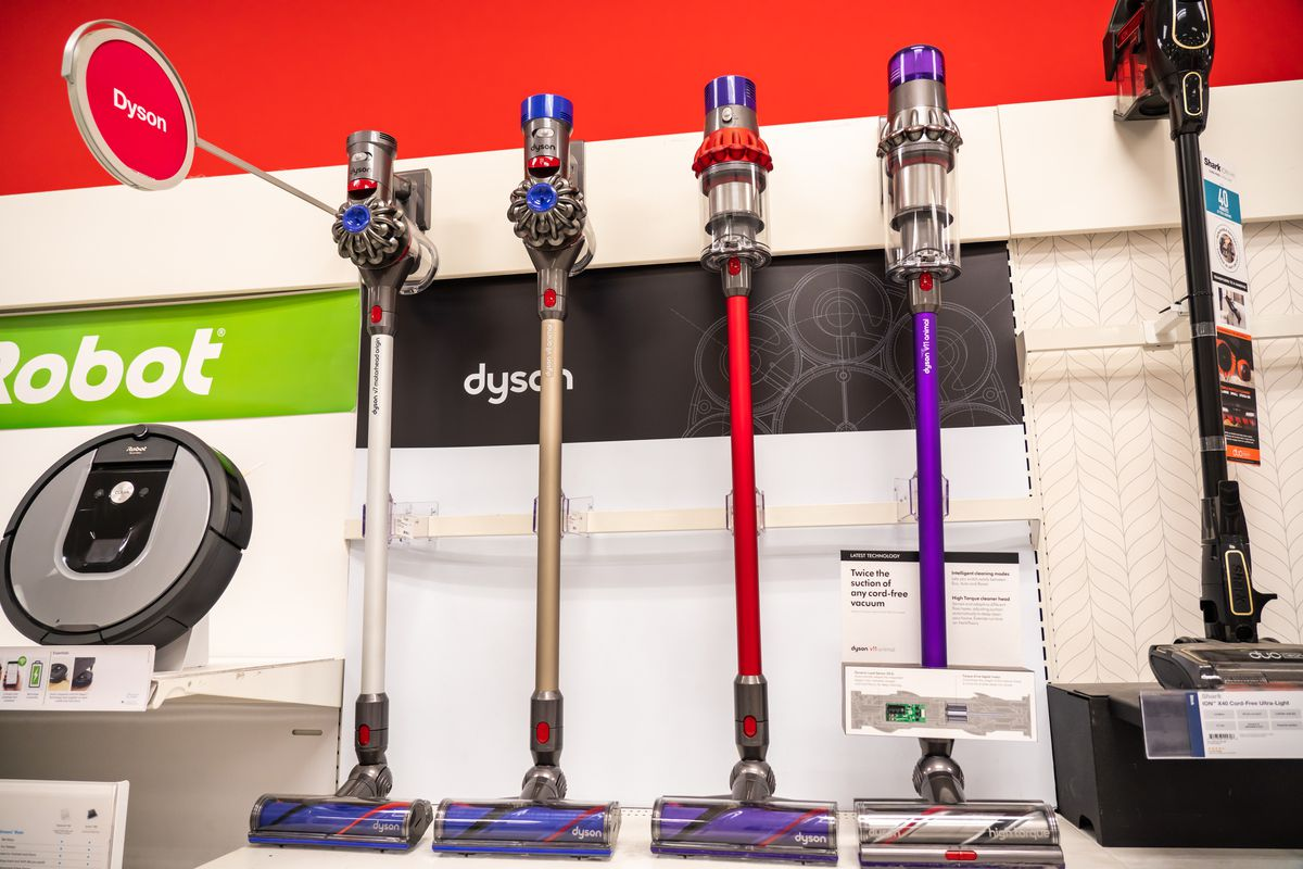 Dyson vacuum cleaners seen in a Target superstore...