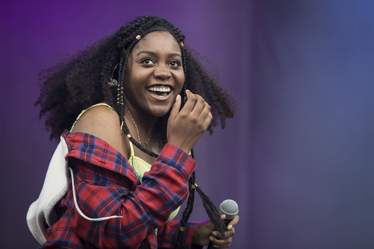 """Chicago rapper Noname (shown performing on day three of the Pitchfork Music Festival in Union Park in 2018) says """"Judas and the Black Messiah"""" lacked context regarding Fred Hampton's politics."""