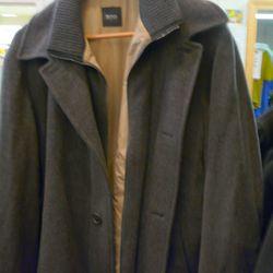 Hugo Boss wool coat, $175