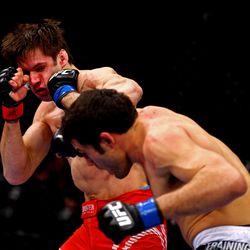 David Mitchell beat Simeon Thoresen at UFC on FOX: Johnson vs. Dodson in Chicago, IL, January 25, 2013.