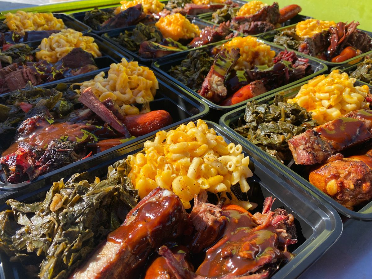 Combination platter from Bootsy's BBQ
