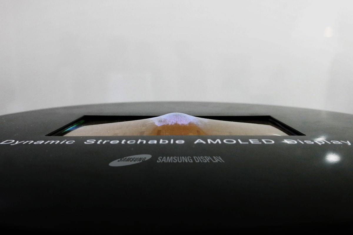 Samsung's new OLED screen prototype can stretch and bend