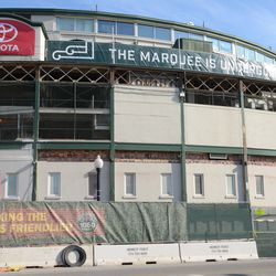 11:00 a.m. The Clark Street side of the front of the ballpark -