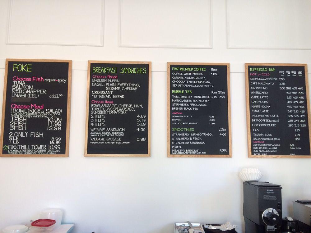 coffee tree and poke menu yelp madeleine s.